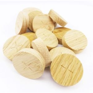 60mm English Oak Tapered Wooden Plugs 100pcs