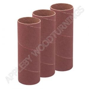 3 Pack 140mm x 19mm Bobbin Sleeves Various Grit Sizes