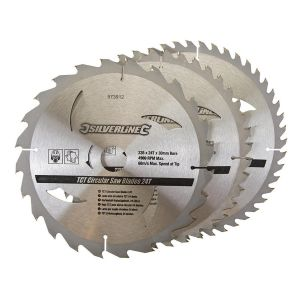 3 pack 235mm TCT Circular Saw Blades to suit DEWALT DW383