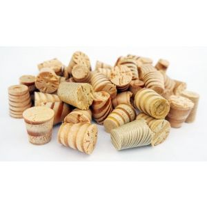 8mm Columbian Pine Tapered Wooden Plugs 100pcs