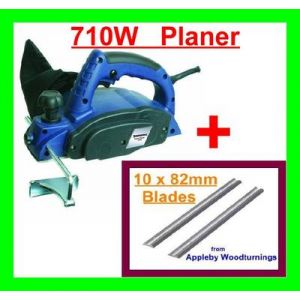 Silverline 82mm Planer 710W & 10 Additional 82mm Planer Blades