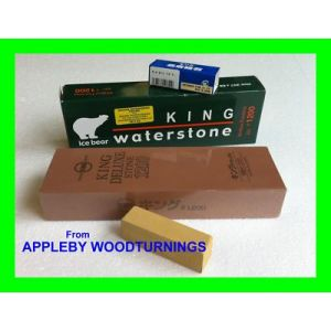 KING Sharpening Waterstone 1200 Grit plus extra Nagura Stone