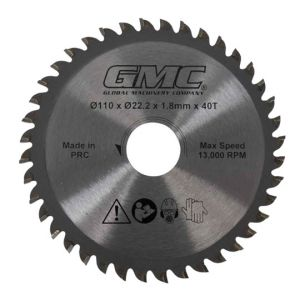 110mm GMC TCT 40Tooth Circular Saw Blade For Portable Plunge Saw