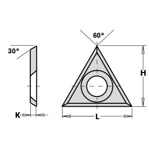 22mm Solid Carbide Triangle Spur Tips to suit CMT 790.220.02
