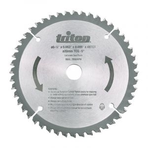 165mm Triton TCT 48Tooth Circular Saw Blade For Portable Plunge Track Saw