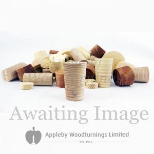 1/2 Inch Fumed  Tapered Wooden Plugs 100pcs