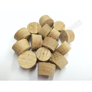 19mm American White Oak Tapered Wood Pellets 100pcs