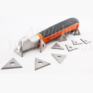 Bahco Ergo 625 Triangle Scraper Handle 25mm With 10 Spare Tips
