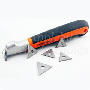 Bahco Ergo 625 Triangle Scraper Handle 25mm With 5 Spare Tips
