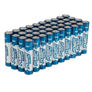 40 Pack AAA 1.5V Powermaster Premium Alkaline Industrial Strength Batteries