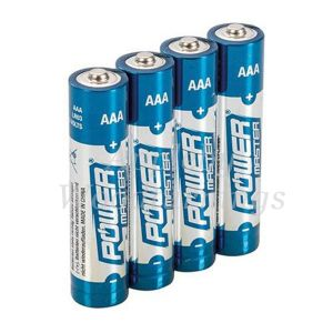 4 Pack AAA 1.5V Powermaster Premium Alkaline Industrial Strength Batteries