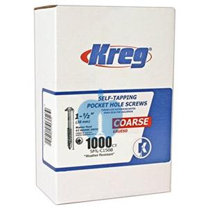 1000 SCREWS 1 1/2 Inch KREG Blue Kote Washer Head SML-C150B 38mm