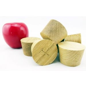 50mm x 42mm x 35mm European Oak Bespoke Wooden Plugs - 100pcs