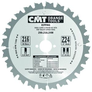 250mm Z=24 ATB Id=30 CMT Table / Rip Saw Blade 285.040.10M