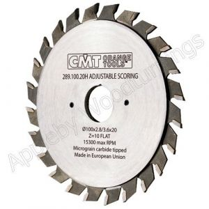 120mm Z=12+12 Id=20 CMT Adjustable Split Scoring Saw Blade 289.120.24H