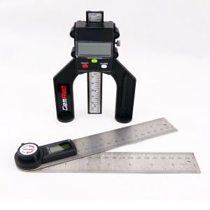 GEMRED 360° Digital Angle Rule 400mm (2 x 200mm) + Digital Depth Gauge TWIN PACK