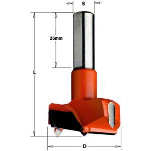 CMT TCT Forstner Hinge Boring Drill Bit 35 x 57mm S=10 R/H 317.350.11