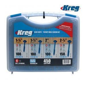 Kreg Blue Kote Coarse Thread Pocket-Hole Screw Kit 450pcs SK03B