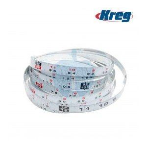 "Kreg 1/2"" x 12Ft Self Adhesive Measuring Tape, Left to Right Reading KMS7724"