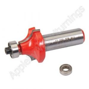 """25.4 x 11.1mm S=1/4"""" Silverline TCT Round Ovolo Router Cutter"""