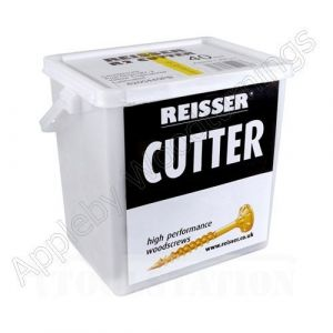 5.0 x 80mm Reisser CUTTER Woodscrews 400pc TUB