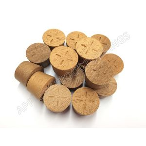 52mm Sapele Tapered Wooden Plugs 100pcs