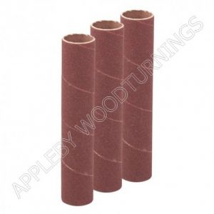 3Pack 114mm x 38mm Bobbin Sleeves Various Grit Sizes
