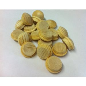 1/4 Inch Softwood Button Head Mushroom Screw Cover Plugs 100pcs