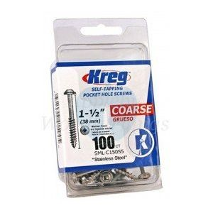 50 Stainless Steel SCREWS 2 1/2 Inch KREG 63mm Coarse Thread SML-C250S5-50-EUR