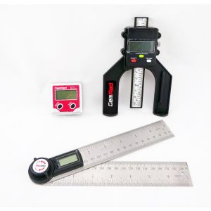 GEMRED 200mm Digital Rule + Bevel Box + Digital Depth Gauge TRIPLE PACK