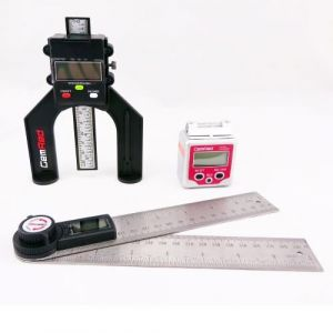 GEMRED 200mm Digital Rule + Level Box + Digital Depth Gauge TRIPLE PACK