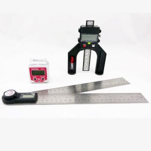 GEMRED 280mm Digital Rule + Level Box + Digital Depth Gauge TRIPLE PACK