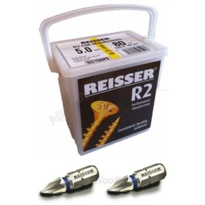 4.5 x 80mm Reisser R2 Woodscrew 450pc TUB
