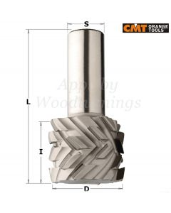 50 x 38mm PCD Diamond Router With 40° Shear Angle Z=3+3 S=25mm Right Hand 145.503.61