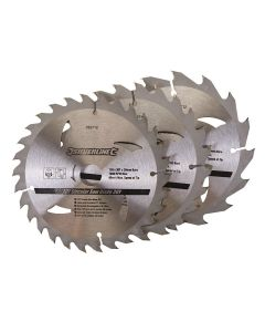 3 Pack 150mm TCT Circular Saw Blades to suit DEWALT DW351