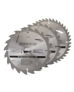 3 pack 180mm  TCT Circular Saw Blades to suit  Einhell BHS66