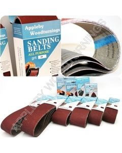 5 Sanding Belts 100 x 915mm - 80 Grit