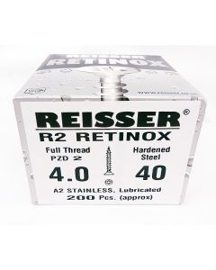 Reisser R2 Retinox Stainless Steel Wood Screws 4.0mm x 40mm 200pcs