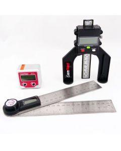 GEMRED 200mm Digital Angle Finder Rule + Bevel Box + Digital Depth Gauge TRIPLE PACK