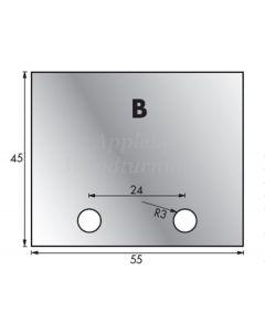 1 Pair 55 x 45mm Whitehill Type B HSS Blank Profile Knives 001H00012