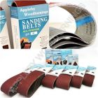 160 Pack 60 Grit Sanding Belts 13 x 457mm