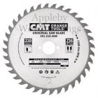 240mm Z=36 Id=30 CMT Hand Held / Portable Saw Blade To Fit Festool AXP85