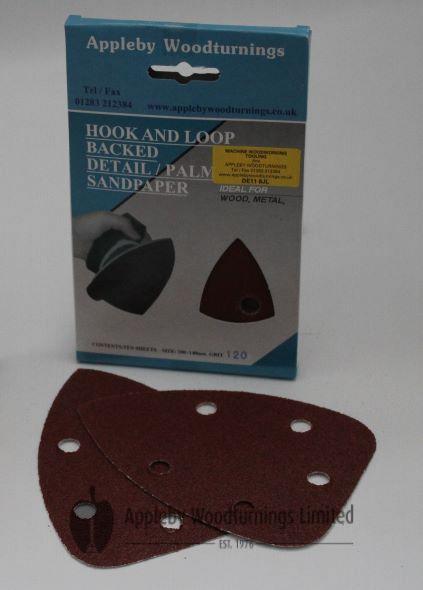 140mm Detail/Palm Sanding Pads - 20 pack - 120 & 240 Grit