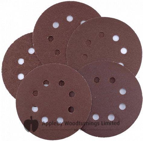 125mm Circular Sanding Discs 'Hook & Loop' backed Various Grit Sizes - 20 pack