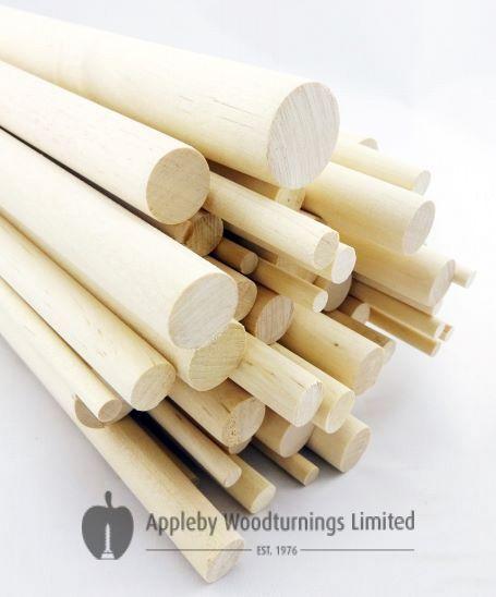 "50 pcs 1/4"" Dia Birch Hardwood Dowel Rod 36 Inches (6.35 x 914mm) Long Imperial Size"