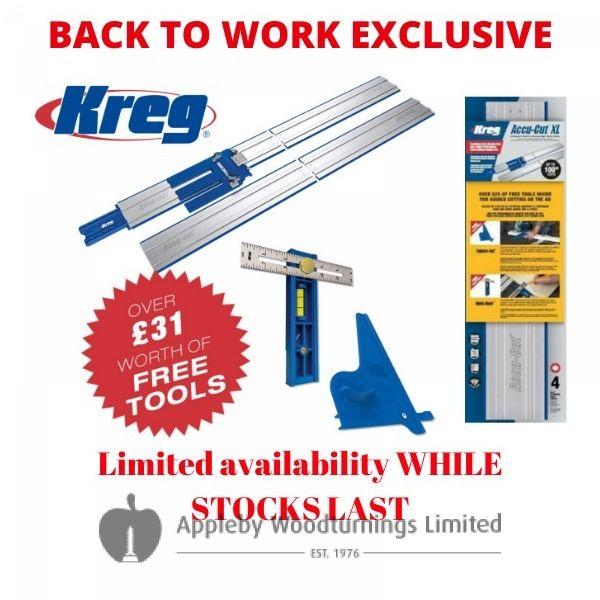 Kreg Accu-Cut XL Saw Track, Square Cut & Multi Mark PROMO KMA3700 £31 of FREE ITEMS