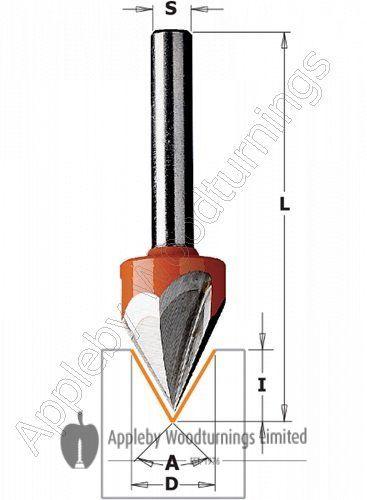 """CMT Engraver 60 deg S=1/4"""""""