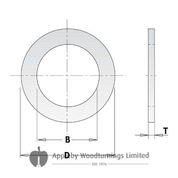 Saw Blade Bore Reducing Bush 30mm - 22mm CMT 299.231.00