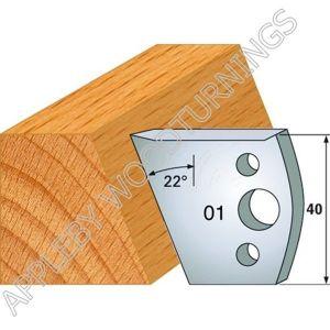 Profile No. 01  40mm Euro Knives, Limitors and Sets