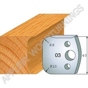 Profile No. 03  40mm Euro Knives, Limitors and Sets